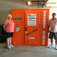 Quillen OSU Pistol Pete Orange Power Tornado Alley Armor above gorund storm shelter