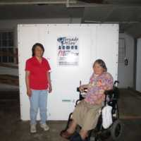ADA wheelchair door ramps Tornado Alley Armor above ground safe rooms